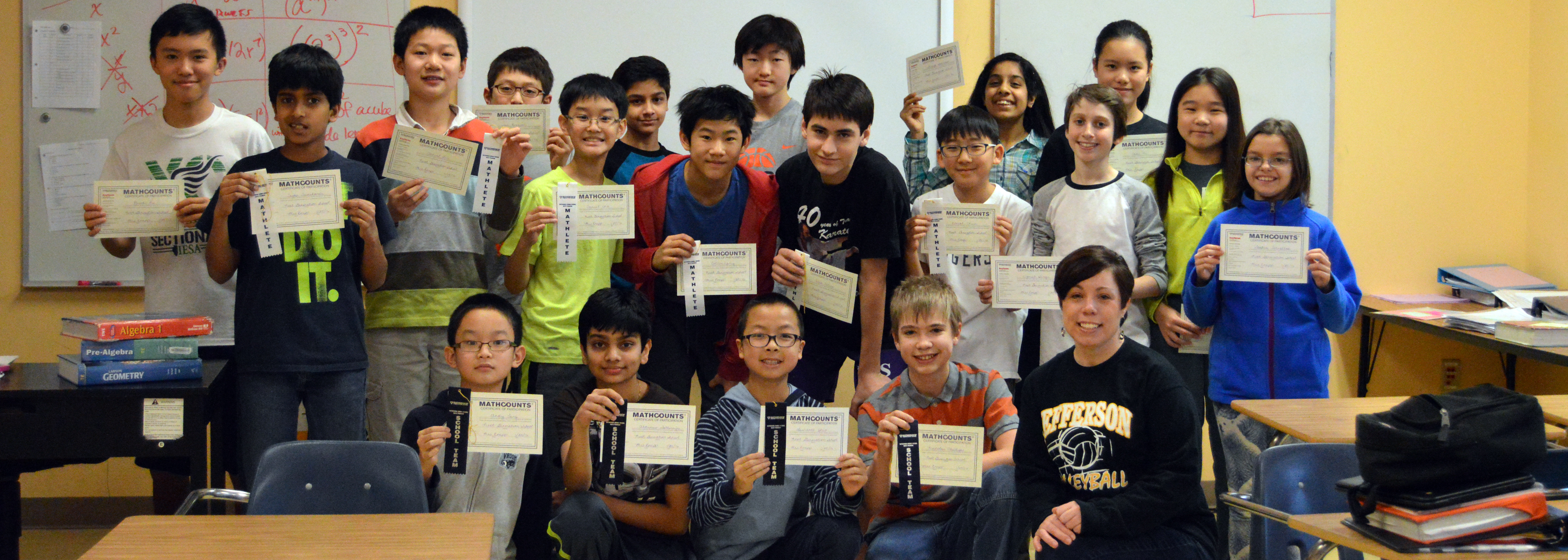 MathCounts team represents at 2016 state competition