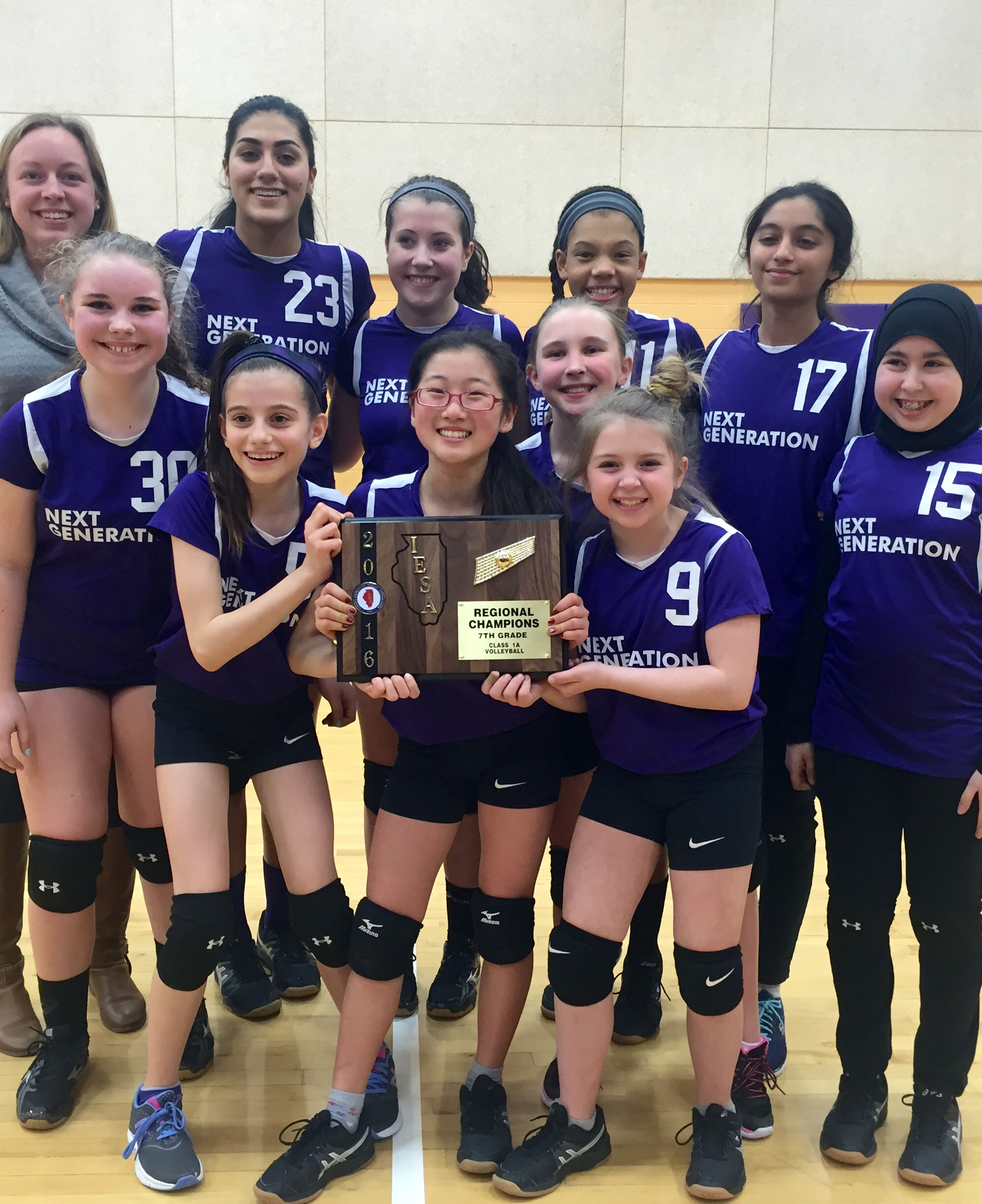 Girls Volleyball: 7th grade takes home first Regional Championship in 2016